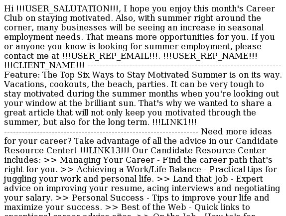 Career Club: Stay Motivated This Summer